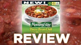 Morningstar Farms Three-Bean Chili with Griller's Crumbles Video Review: Freezerburns (Ep467)