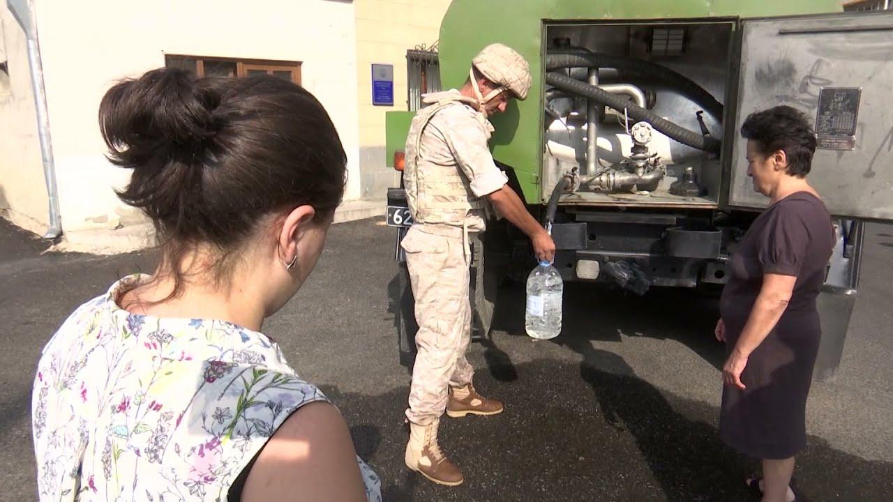 Ռուս խաղաղապահները խմելու ջրով ավելի քան 200 ընտանիքի են ապահովել Լեռնային  Ղարաբաղում. ՌԴ ՊՆ - YouTube