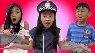 Pretend Play Police LIE DETECTOR TEST on Loud Neighbor