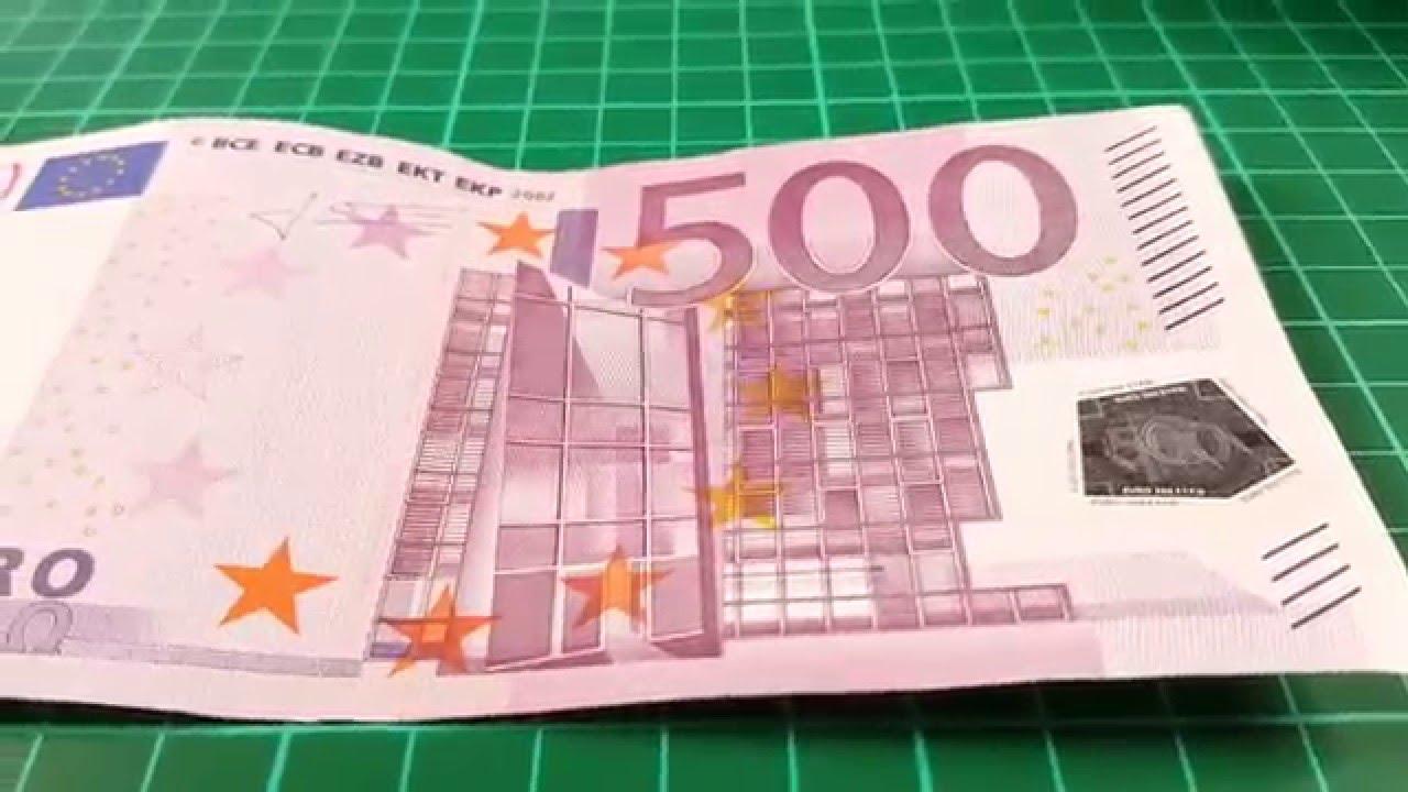 banconota da 500 euro ripresa con s6 samsung youtube. Black Bedroom Furniture Sets. Home Design Ideas