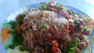 Лапша Чапче/Китайский салат/Что едят в китайской деревне)