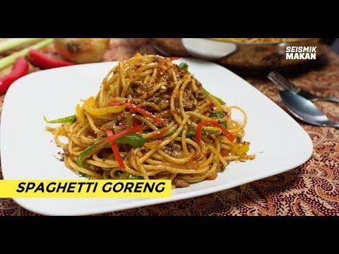 Resepi Spaghetti Goreng Fried Spaghetti Recipe Seismik Makan Youtube