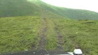 Gelandewagen  у подножья горы Стой