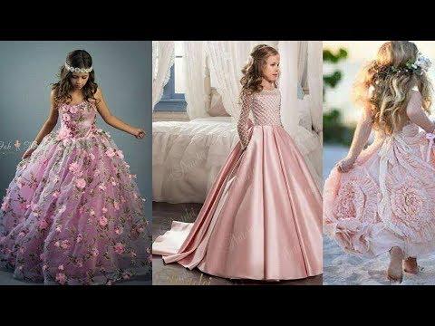 e5aade27f1b10 Latest Baby girls fancy gowns frocks designs 2018 kids party wear ...