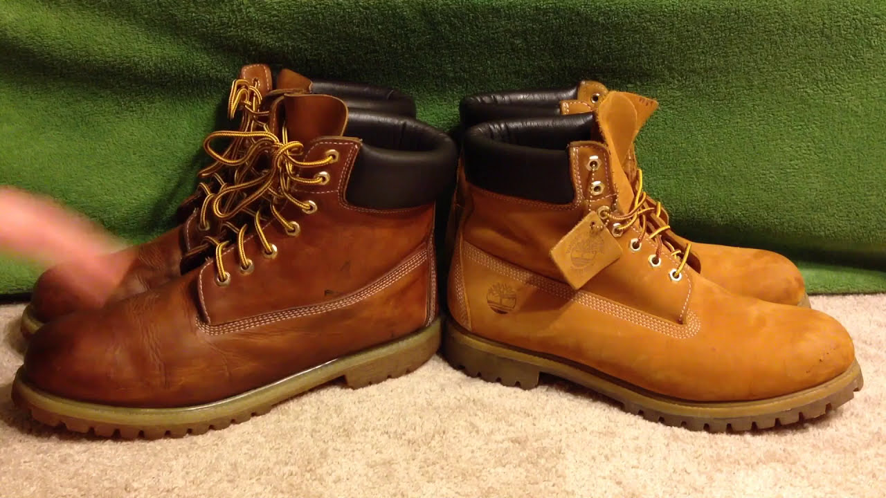 How to spot FAKE Timberland boots comparison 6  Wheats Replicas vs Real -  YouTube 02c26168bd7