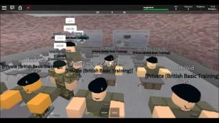 My first training in roblox [BA] British Army Academy (MOTORCYCLE)