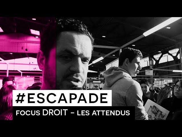 # ESCAPADE : Focus DROIT - Les attendus