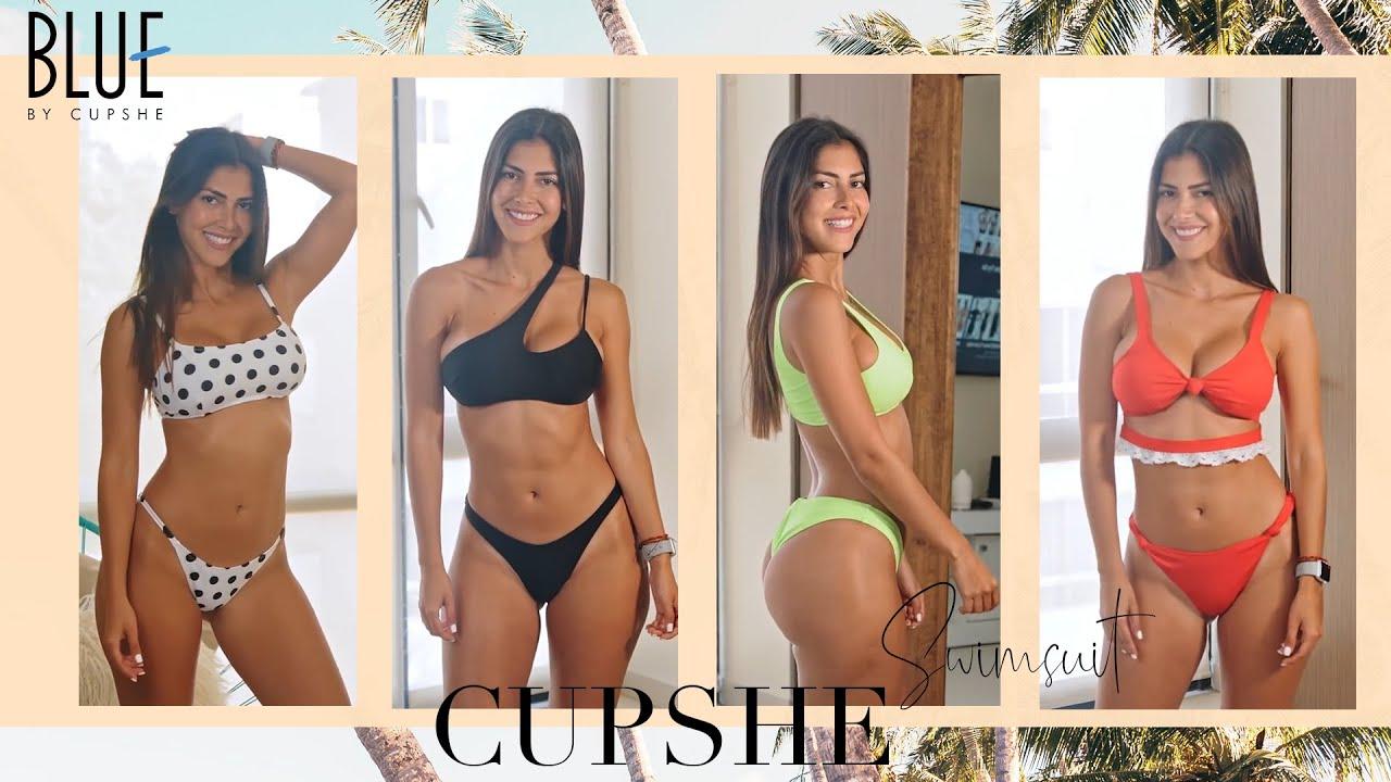 2020 Cupshe Blue Bikini Try On Haul Spring Swimwear| ft.Ari Dugarte Try On