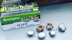 Remington Ultimate Defense 40: Meat Target Test