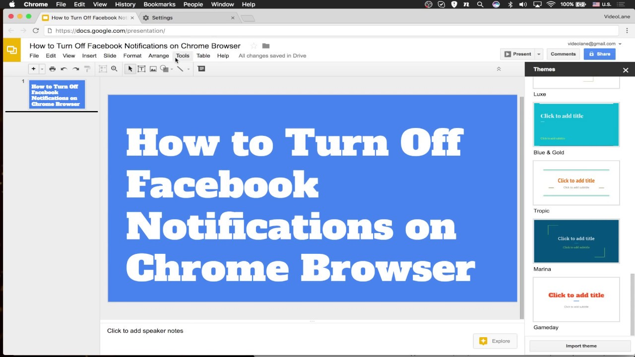 How to Turn Off Facebook Notifications on Chrome Browser - YouTube