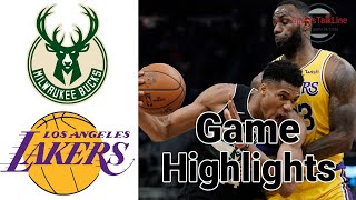 Bucks vs Lakers Highlights Full Game | NBA March 6