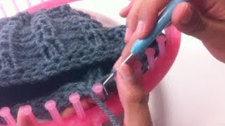 Repeat youtube video Circular Loom Knitting: How to Bind Off (DIY Tutorial)