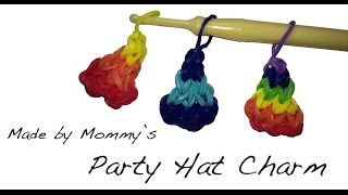 Birthday Party Hat Charm on the Rainbow Loom