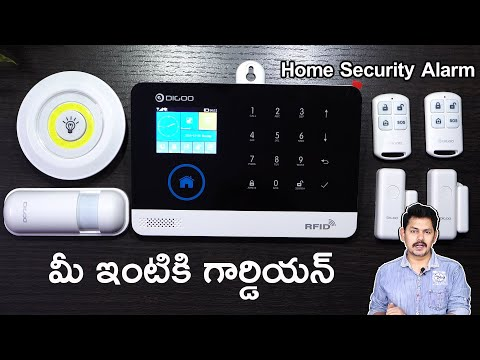 Digoo DG-HOSA 433MHz Wireless GSM&WIFI Home Security Alarm Unboxing and installation in Telugu