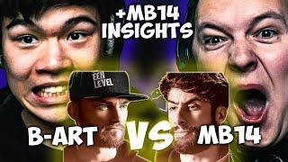 CHEZAME & SXIN React | B-ART vs MB14 | Grand Beatbox Battle 2019 | 1/4 Final