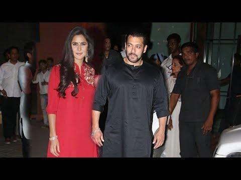 Salman Khan's MACHO ENTRY With Girlfriend Katrina Kaif At Salman Khan Ganpati Celebrations 2018