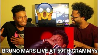 Bruno Mars - That's What I Like (LIVE from the 59th GRAMMYs) (REACTION)