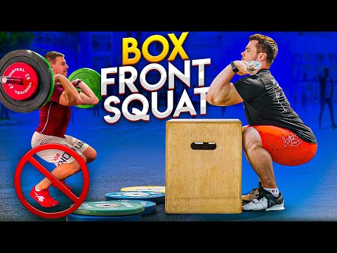 BOX Front SQUAT / How to develop Muscle Feeling & Balance for correct mechanics of the Front Squat