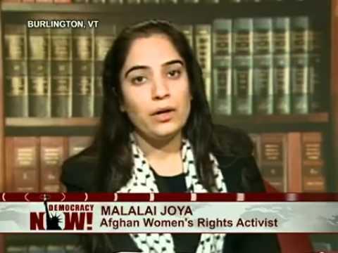 "Democracy Now! ""Stop These Massacres "" Part 1/2 Malalai Joya Interviewed"