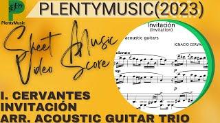 Cervantes I. | Invitación (Invitation) arranged acoustic guitar trio