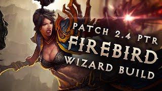 2.4 Wizard Firebird Lazors Build - Diablo 3 Reaper of Souls PTR