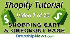 Shopify  - The Shopping Cart and Checkout - Video 7 Of 20