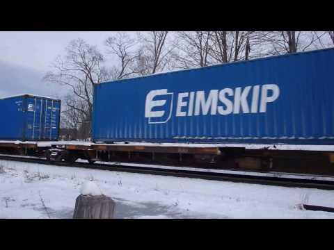 Pan Am freight WB at Kingston, NH