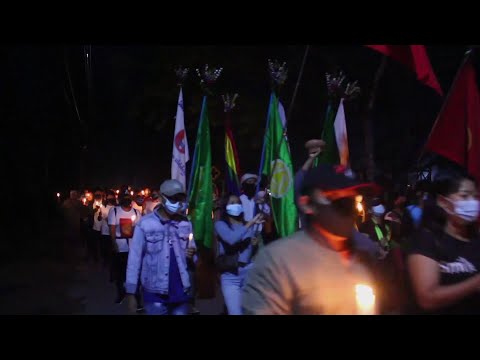 Dawei anti-coup protesters hold candlelight march