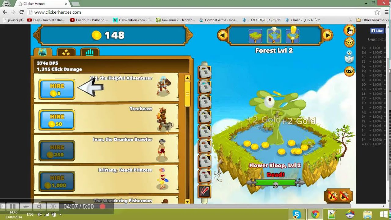 Clicker Heroes amazing hack - free no download and servey!