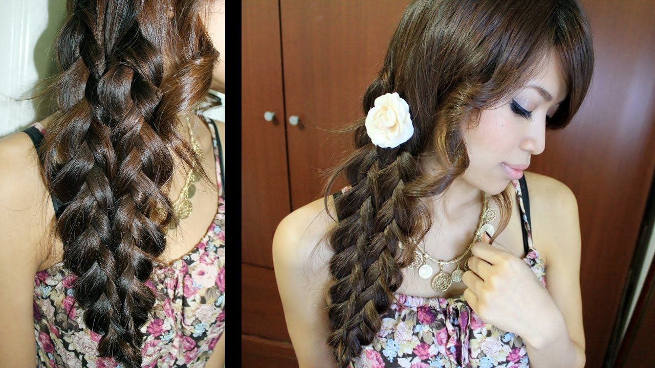 Mermaid Tail Braid Hairstyle Hair Tutorial Youtube