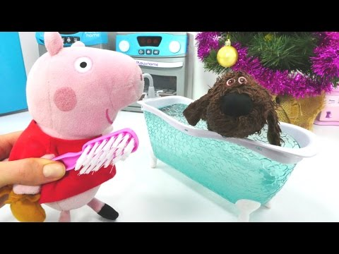 Пеппа и МЯГКИЕ ИГРУШКИ! #Плюшики представляют: Свинка Пеппа ищет 🔍 украденную пиццу 🍕! Вор пойман!