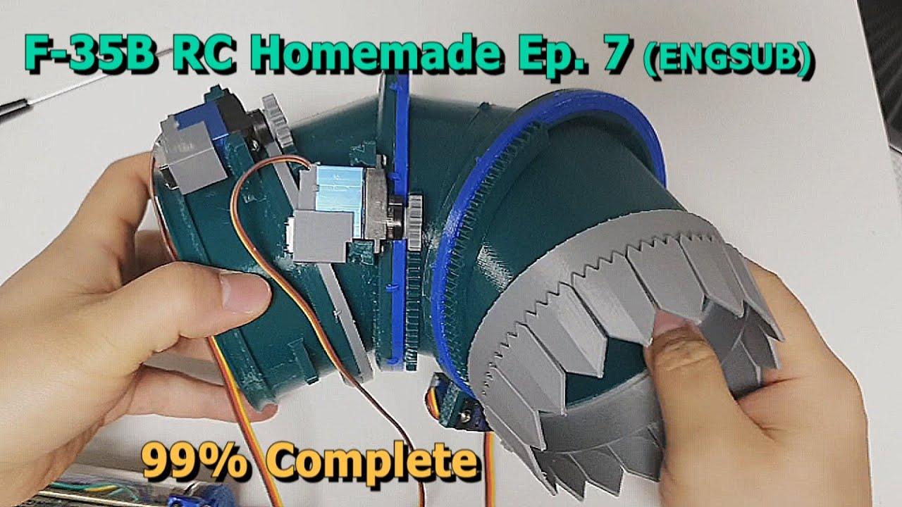 Download 회전 노즐 99% 완성, 수직이륙 전투기 F35B 무선조종 만들기 7화 / F35 VTOL RCplane Homemade Ep.7