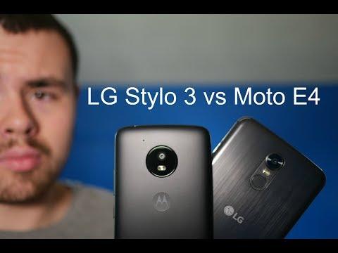 LG Stylo 3 vs Moto E4!