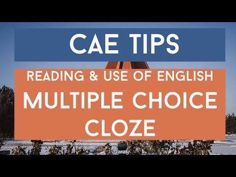 Prepare for Cambridge: Advanced - Multiple Choice Cloze