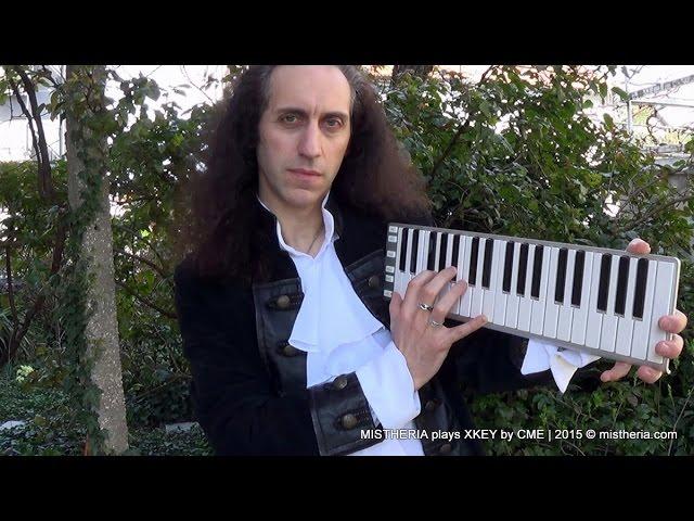 Adagio in Gm on CME Xkey37 mobile keyboard