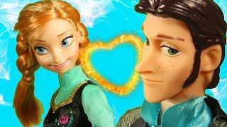 Анна и Эльза Влюбляющее Заклятье Куклы Холодное Сердце Принцессы Диснея Мультфильм
