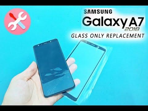 Samsung Galaxy A7 2018 (A750F) Glass Only Replacement / Wymiana Zbitej Szybki