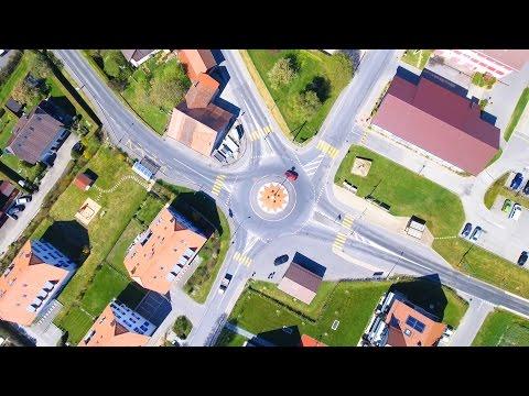 Froideville Village via Drone - Switzerland
