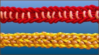 Ручки для сумок. Плетение ручки. Плетение шнуров. Плетение пошагово. Часть 3. (Weave. P. 3)