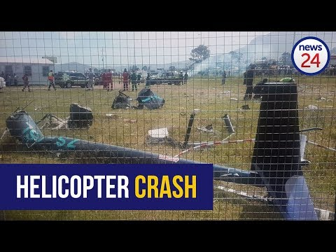 Helicopter crashes onto Cape Town school grounds