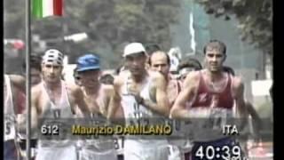 giovanni de benedictis -Campionati del mondo di atletica leggera - Tokyo '91 - 20km di marcia  3/5
