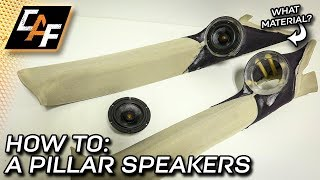 Custom A-Pillar Speakers - Stretching Grill Cloth & Modifying the Panel