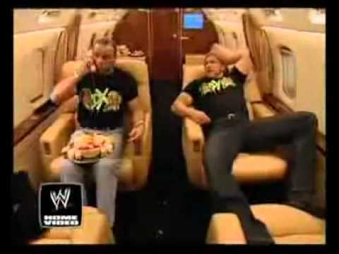 WWE - DX On Mr. McMahon's Private Jet (Funny) (HD)