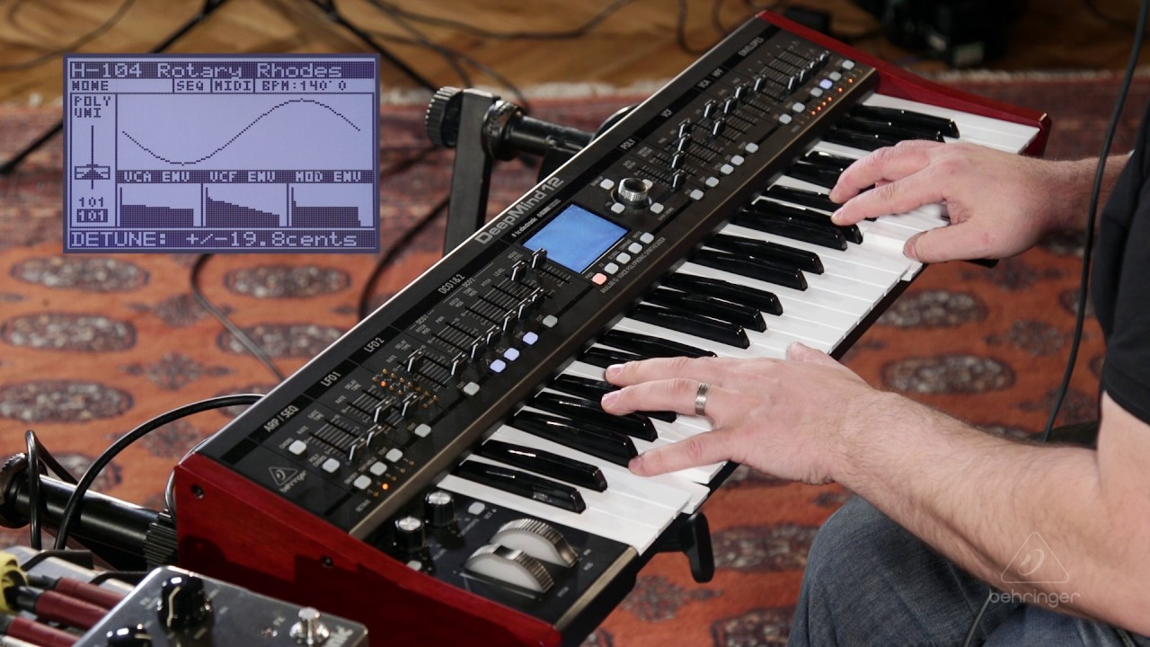 BEHRINGER DEEPMIND12 ANALOGUE 12-VOICE POLYPHONIC