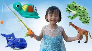 Trò Chơi Câu Cá – Săn Và Học Tên Các Con Vật ❤ AnAn ToysReview TV ❤