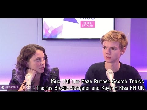 [Sub TH] Kaya Scodelario & Thomas Brodie Sangster talk to Kiss FM UK