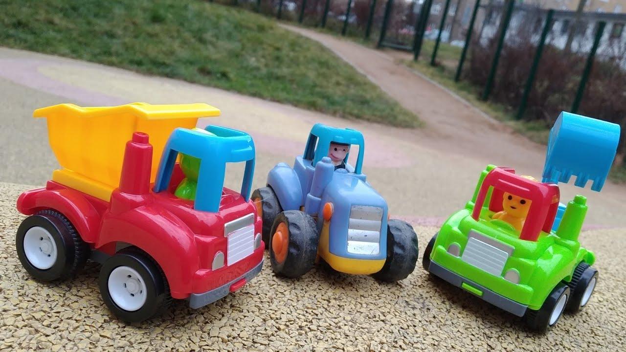 Мультики про машинки. Синий трактор, его друзья и малыш ...