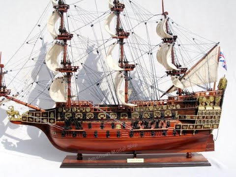 HMS Sovereign of the Seas 1637 Tall Ship Wooden Model