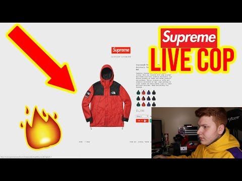 SUPREME FW18 WEEK 9 LIVE COP! Supreme x North Face (Manual)