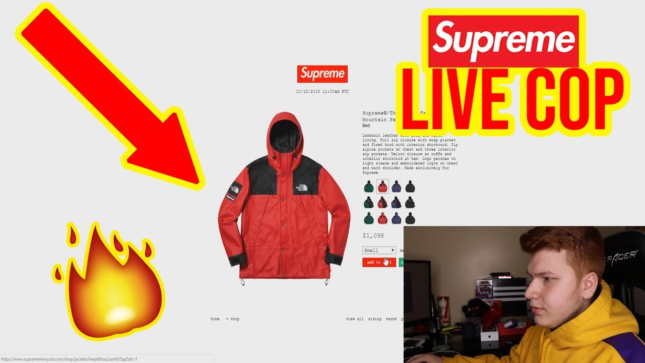 b9e2e40b SUPREME FW18 WEEK 9 LIVE COP! Supreme x North Face (Manual) - YouTube